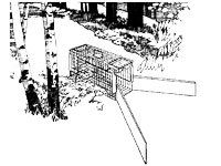An illustration of an animal trap