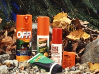 A variety of mosquito repellants.